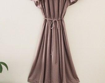 80's Taupe Disco Dress