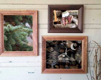 "Woodland collection / fine art prints /photography / illustration/ nature home decor /pine trees/ lumber logs art // ""lumberjack lumberjill"""