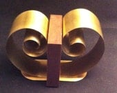 Mid Century Modern Coil Bookends,Retro Coiled Bookends, Art Deco Style Bookends, Coiled Brass Bookends, Modernist Bookends, Mid Century Desk