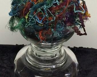 TEXTILE ART SUPPLIES, Purple fibers, Fibers, Texture, Embellishment Pack, Art Fibers, Textile Craft Pack, Yarn Bundle, Mixed Media Fibers