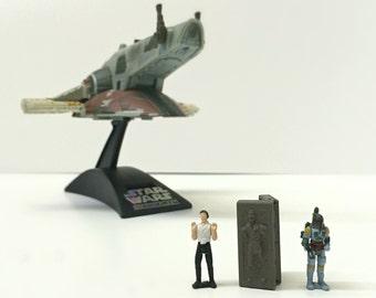 Boba Fett Han Solo Star Wars Toys, Star Wars Micro Machines Action Figures, Star Wars Kids Toys, Birthday Gift for Him, Star Wars Spaceship