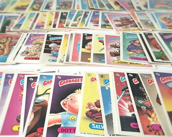 1986 Topps Garbage Pail Kids Cards / Stickers, Set of 15 - 1980s Cabbage Patch Kids Spoof, Gross, Funny Gag Gift For Men, Fathers Day Gift