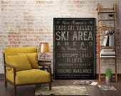 YOU CHOOSE Custom SKI Sign  - Ready to Hang 1.5 inch deep Canvas Aspen Vail Killington Stowe Jackson Hole Taos Stratton Big Sky