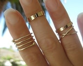 Rose Gold Midi Rings * Gold Knuckle Rings * Gold Rings * Stacking Rings