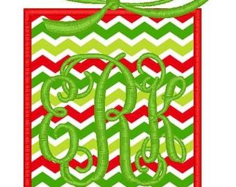 Christmas Present 3 Machine Embroidery Applique Design