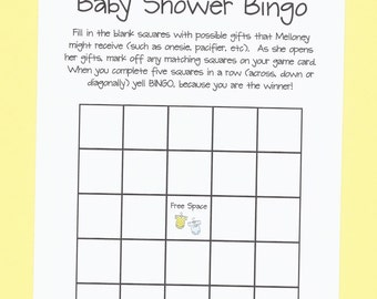 baby shower bingo baby shower game your shower is a winner onesie