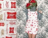 Overalls / Miller High Life Dress / Beer Overalls Dress Sz XS S M L