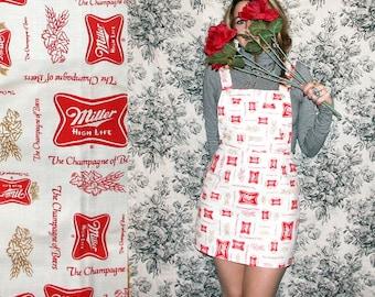 Overalls / Miller High Life Dress / Beer Overalls Dress Sz XS S M L