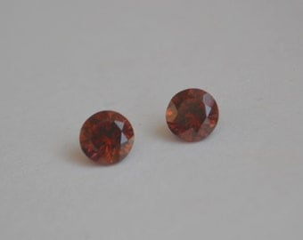 Cognac Zircon Matched Pair 6mm