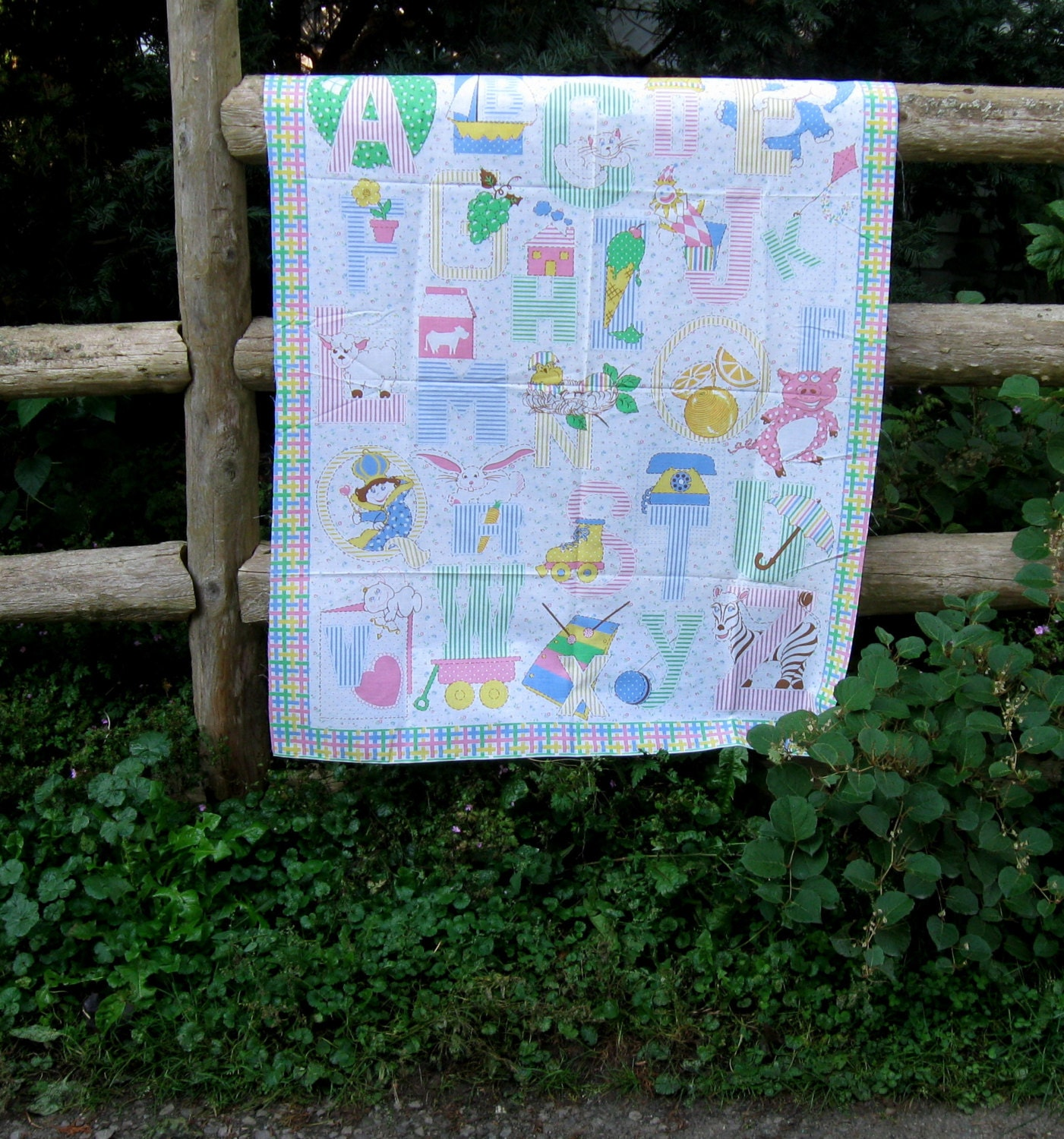Abc Baby Quilt Panel Animal Vintage Baby Quilt Panel Fabric