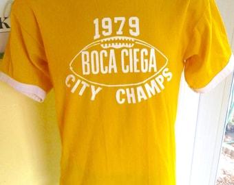 1979 Boca Ciega Football City Champs vintage jersey shirt - size large