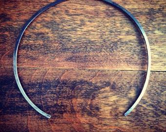 Anticlastic Collar Necklace - Ombré Oxidized