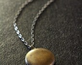 Dark Locket Simple Necklace, Brass Antique Locket, Small Vintage Locket Jewelry Unisex, Man's Necklace, Men's Locket, Men's Jewelery