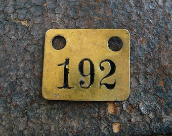Salvage Brass Tag Number 192