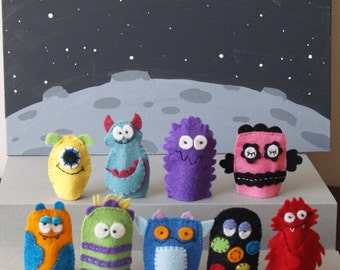 Monster Finger Puppet Set- Choose Which Designs