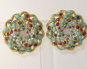 "Vintage Sarah Coventry ""Song of India"" Clip Earrings (E-1-3)"