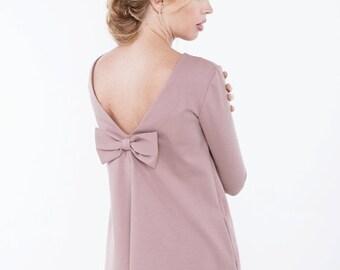 SALE - Dusty rose dress | Spring dress | Dress with pockets | LeMuse spring dress