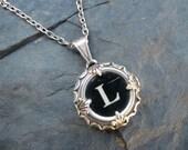 Typewriter Key Jewelry - Typewriter Charm - Letter L