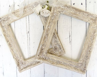French Country Frames, Vintage Inspired Frames, Beige Frames, Fancy Ornate Frame, Shabby Chic Cottage Decor, French Country, Paris Apartment
