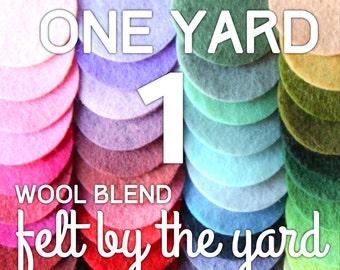 """Felt by the Yard - One (1) Yard of Wool Blend Felt- 36"""" x 36"""""""