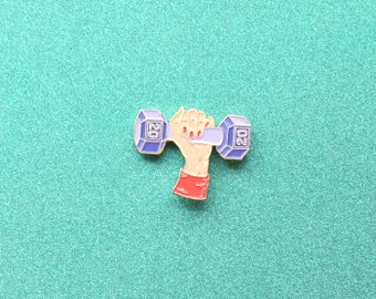 Ladies Who Lift Enamel Pin - Arm Day Girly Strong Lapel Pin- Pretty Manicure and Babely Muscles