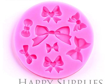 1 Sets- Silicone Mold For Bows  -Cake Decoration Bow Mould- Different Shapes- DIY Resin Bows (BM037)