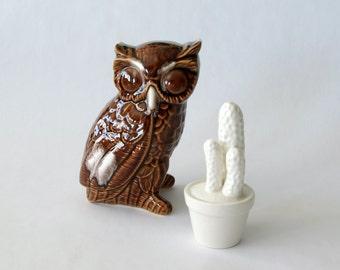 vintage ceramic owl figurine - 1211158