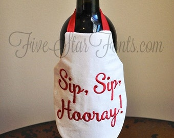 In the Hoop Bottle Aprons 14 Designs included  Wine Apron