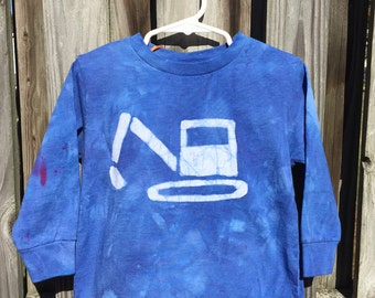 Kids Excavator Shirt, Blue Excavator Shirt, Kids Digger Shirt, Childrens Truck Shirt, Kids Truck Shirt, Boys Truck Shirt, Girls Truck (3T)