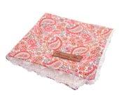 Floral Paisley girls Lovie Security Blanket - lovey
