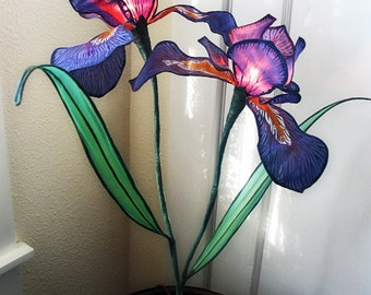 Wild Iris Silk Accent Lamp