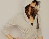 Hoodies / Wrap top /Casual /Day top / Women hoodie