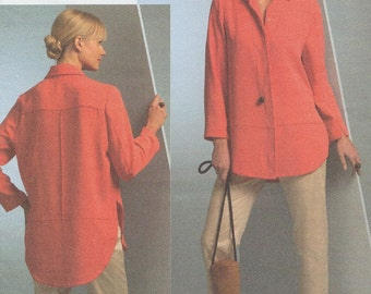 Vogue 1054 / Designer Sewing Pattern By Ralph Rucci / Chado / Pants Blouse Overblouse Jacket / Sizes 8 10 12 14