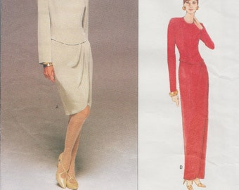 Designer Sewing Pattern By Tom And Linda Platt / Vogue 1708 / Dress Gown / Sizes 12 14 16