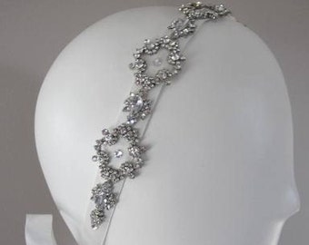 Crystal Victorian wedding headband, Art Deco Rhinestone Bridal Headband, Vintage Inspired Hair Accessory (Haute Couture)