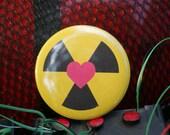 "Ghostbusters HOLTZMANN Nuclear Heart 2.25"" Button Pin Badge"