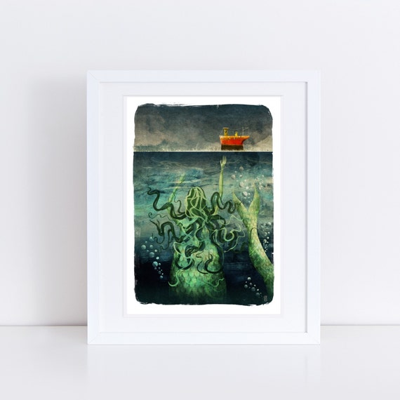 The Mermaid - Signed Print