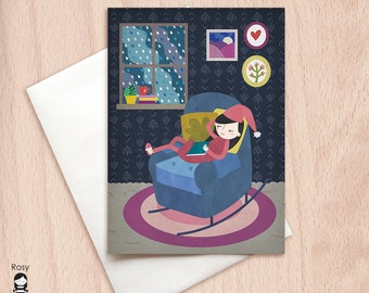 Cozy Home - Get Well Soon, New Home - Blank Greeting Card