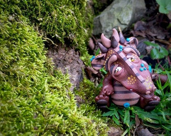 Polymer Clay Dragon 'Rhyce' - Limited Edition Handmade Collectible