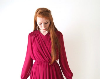Raspberry sorbet dress, vintage, Japon, small