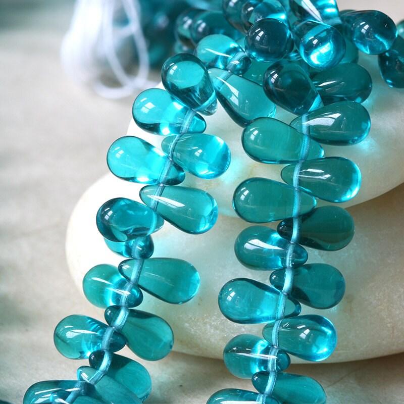 Teardrop Beads: 11x6mm Large Glass Teardrop Beads Czech Glass Beads Tear