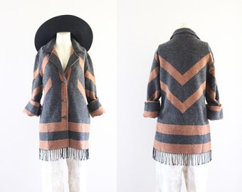 wool blanket jacket / italian merino wool