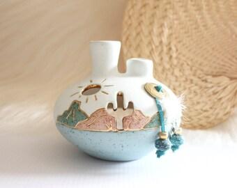 desert sun / candle vase