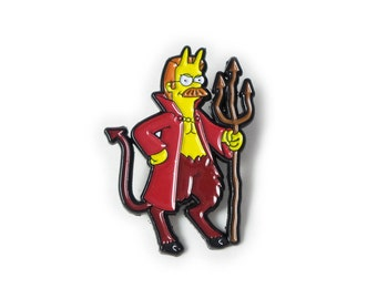 Flandiddly Devil - Simpsons - Pin - Cartoon - Ned Flanders
