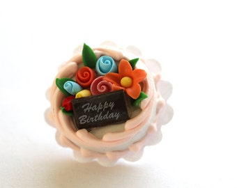 Happy Birthday Surprise Cake Flair/ Pin / Brooch