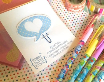 Blue Dot Speech Bubble Planner Clip Book Mark