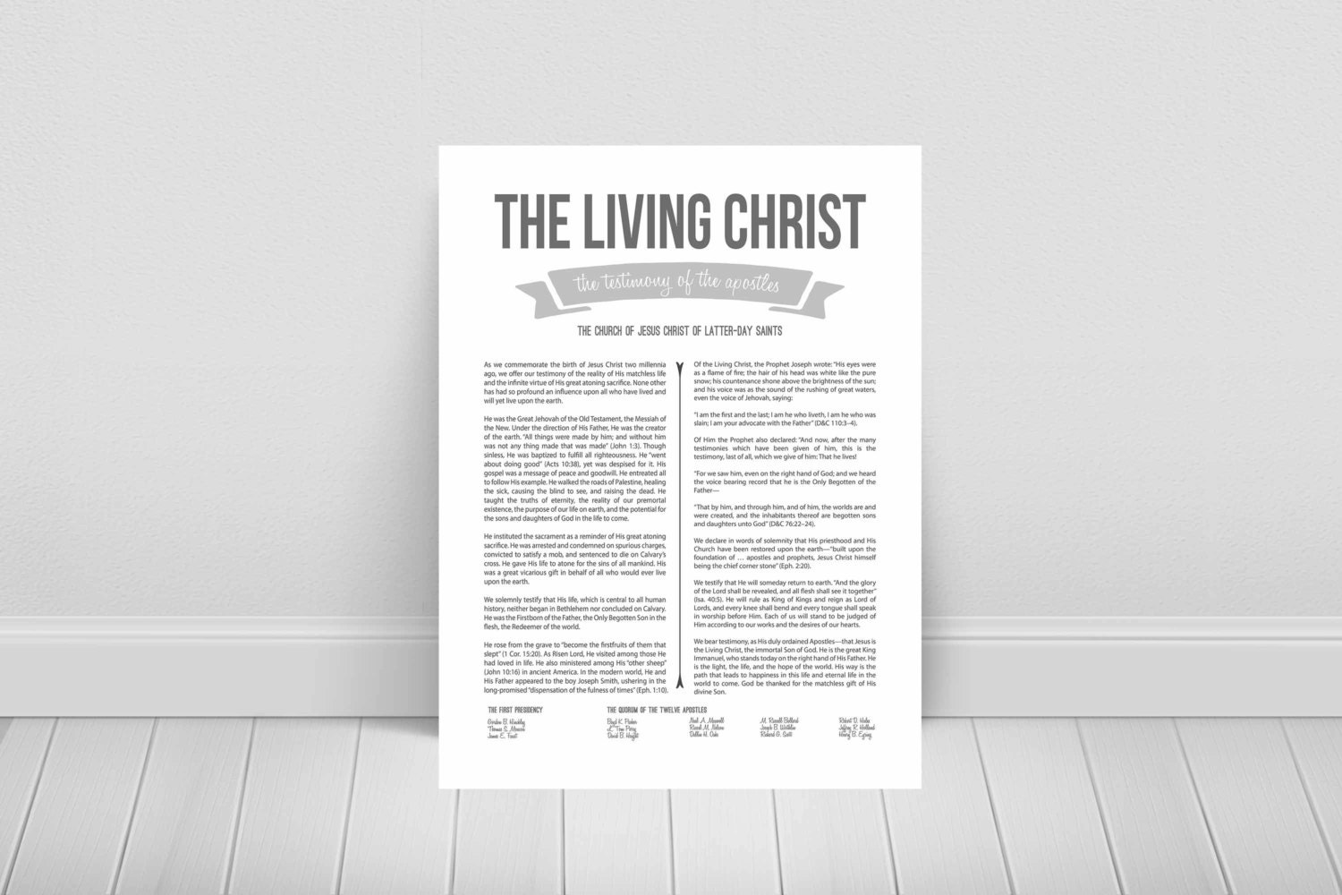 This is a photo of Priceless The Living Christ Printable