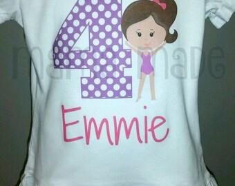 Gymnastics Birthday Shirt or Bodysuit Gymnast Party Gymnast Birthday Gymnast Tee girls birthday shirt,gymnast birthday shirt,gymnast tee