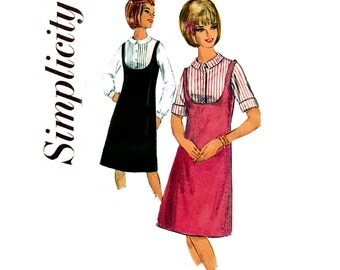 60s Teen Blouse Jumper Pattern Simplicity 5717 Vintage Sewing Pattern Size 12 Bust 32 inches UNUSED Factory Folded