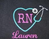 RN Custom Nurse Fleece Full Zip Jacket w/name